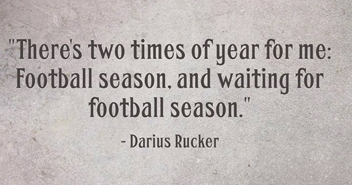 NFL Season: Come back SOON!
