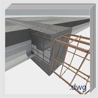 Pack detalles constructivos .dwg y .pdf: rehabilitación y reparación de vigas de hormigón armado.