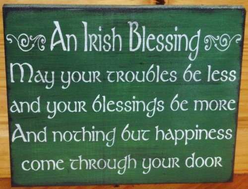 Irish Blessing Primitive Wood Signs Plaques Celtic St Patricks Wedding | SleepyHollowPrims - Wedding on ArtFire $30