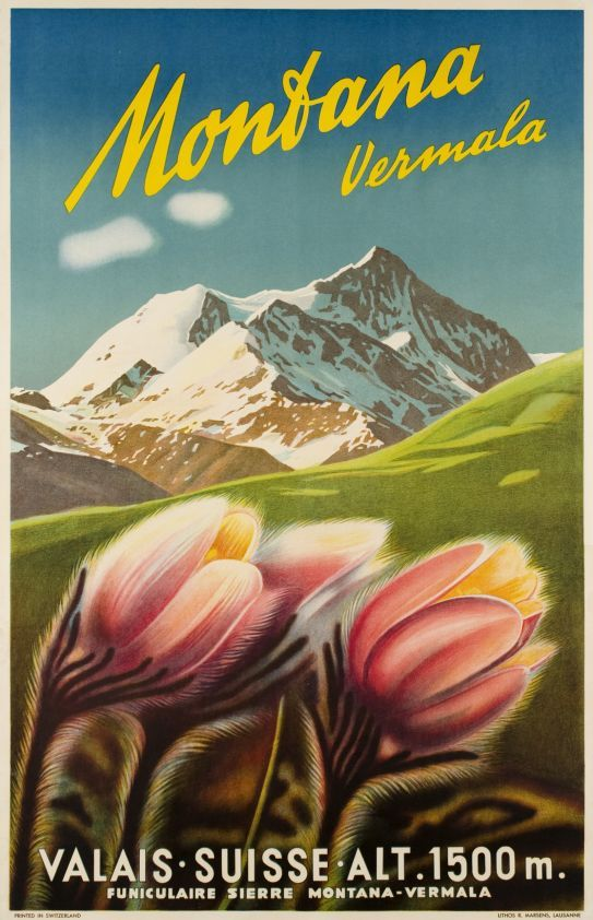 Montana Vermala, Valais Suisse by Anonymous / 1945