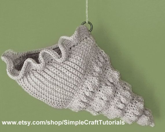 Crochet Sea Shell Basket PDF Pattern by SimpleCraftTutorials