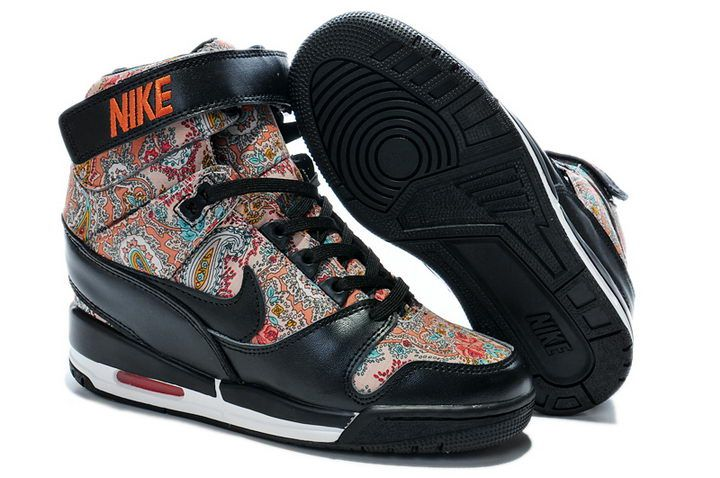 Wmns Air revolution Nike Sky Hi Wedge 599410 100 For Women : Cool High Tops Nikes Dunks Adidas Converse Cartoon Shoes, Cheap For Sale