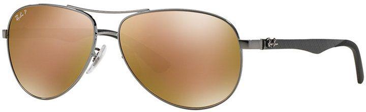 Ray-Ban Polarized Sunglasses, RB8313 58 Carbon Fibre