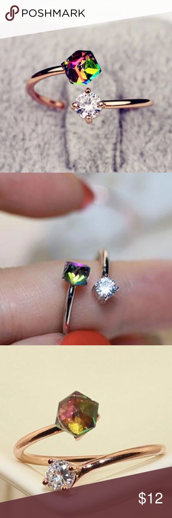 💍Cz Adjustable Ring💍 Cute Cubic Zirconia Adjustable Ring Jewelry Rings