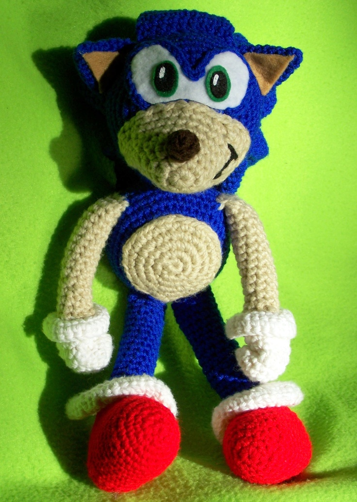 Sonic the Hedgehog. Free pattern on Ravelry. Crocheted ...