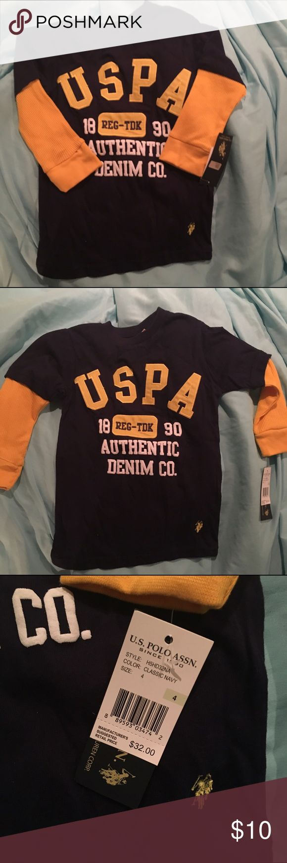 U.S. Polo Association Boys Shirt New with tag. Recently purchased. Long sleeve. Size 4. Cheaper on merc.... U.S. Polo Assn. Shirts & Tops Tees - Long Sleeve