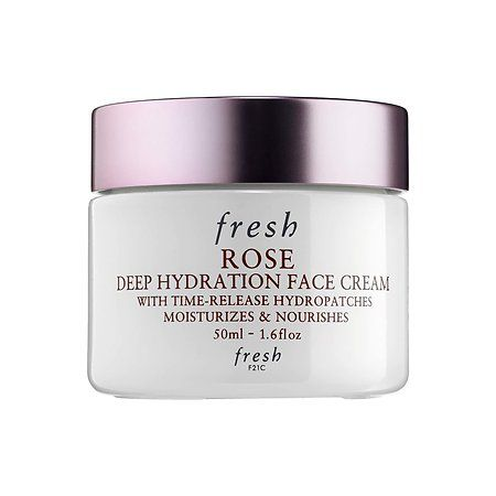 Shop Fresh's Rose Deep Hydration Face Cream at Sephora. It delivers 24-hour moisture, giving skin a petal-soft finish.