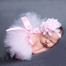 Super Leuke! Zachte Schattige Pasgeboren Meisjes Kleding Rok Set Baby Muts Cap Pasgeboren Fotografie Props Voor 0-3 Maand(China (Mainland))
