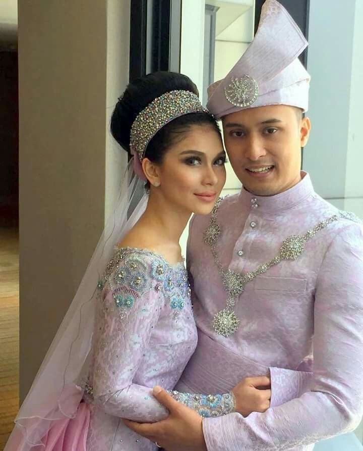 Modern songket for reception #malay #wedding