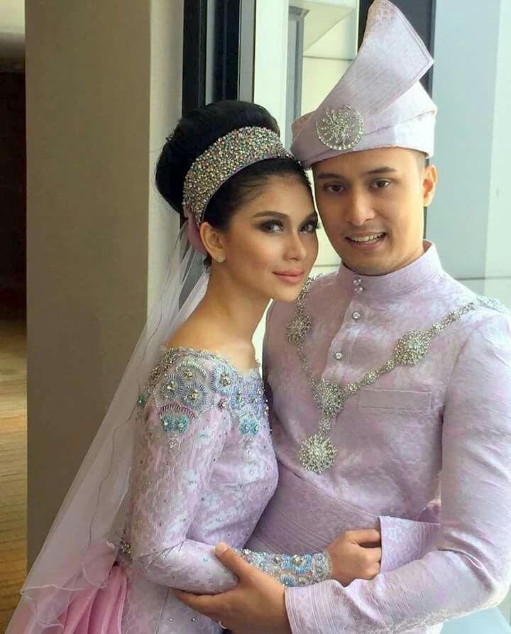 Modern songket for reception #malay #wedding
