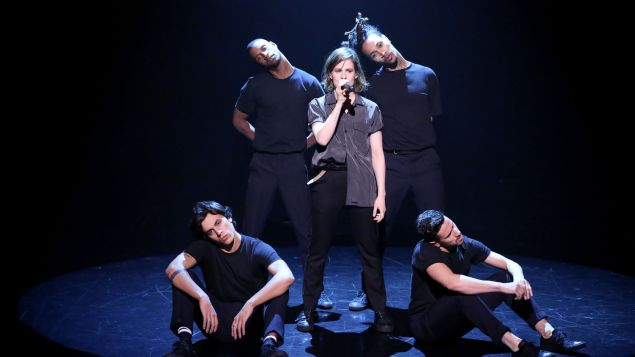 Christine and the Queens Performed On Tonight Show with Jimmy FallonWithGuitars