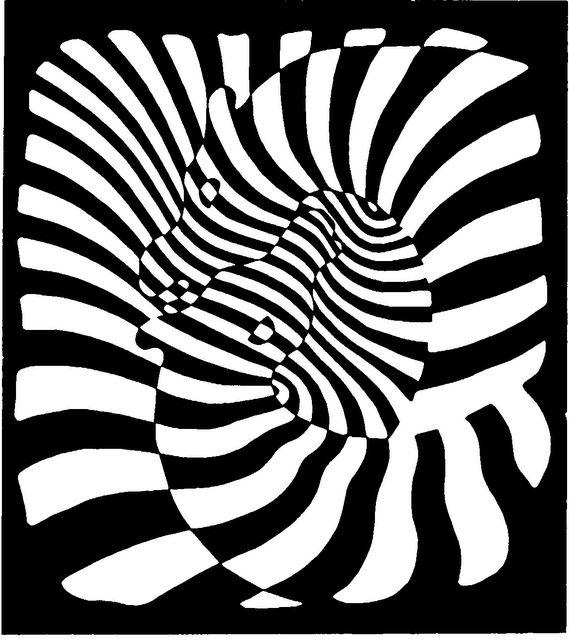 Original creators the father of op art victor vasarely victor vasarelyzebrasart opticaloptical illusionsblack white stripesblack