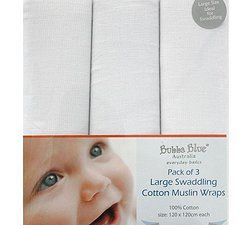 Baby Setup, Baby Products, Original Baby Products, Bubba Blue Cotton Muslin Wraps  www.babysetup.com.au