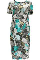 Frank Walder - jurk met tropische bladeren