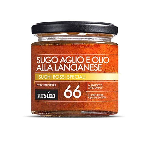 Vendita online | Sugo Aglio e Olio alla Lancianese vasetto da gr.200 conf. da 6 Ursini - Gastronomia - Prodotti Italiani