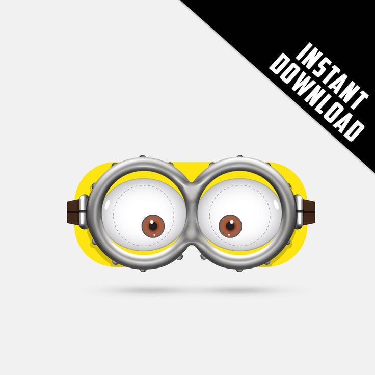 Despicable Me Minion Printable Paper Glasses, party mask, birthday, photo booth props ,kids mask, 3D movie glasses by DIYnamicStyle on Etsy https://www.etsy.com/listing/536350193/despicable-me-minion-printable-paper