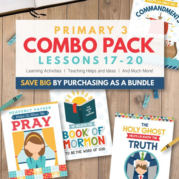 LDS Primary Lesson Helps and Ideas - Primary 3 Combo Package (Lessons 17-20)
