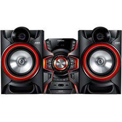 Minisarja Samsung 750W teho AM / FM, LED-valaistus kaiuttimet, USB dual, GIGA Sound, jalkapallo Mode Equalization - Musta