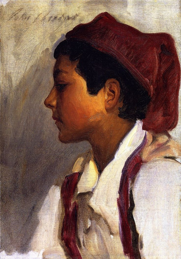 The Athenaeum - Head of a Neapolitan Boy in Profile (John Singer Sargent - )1879 Oil on canvas / 48.26 x 34.29 / Private collection