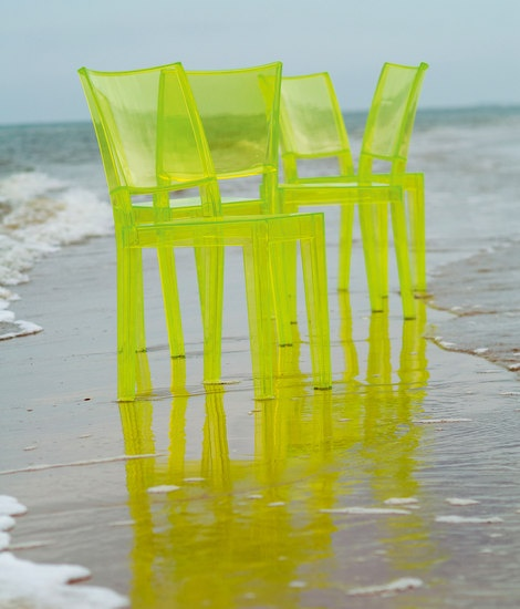 """""""Ghost"""" chairs by Starck for Kartell"""