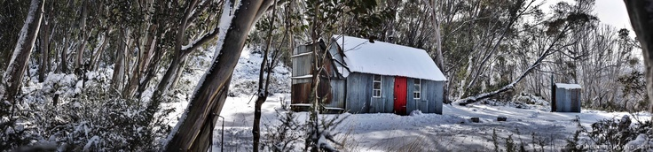 Horse Camp Hut in Kosciuszko National Park. Stitched 5 shot panorama with 2 stop HDR bracket = 15 photos.