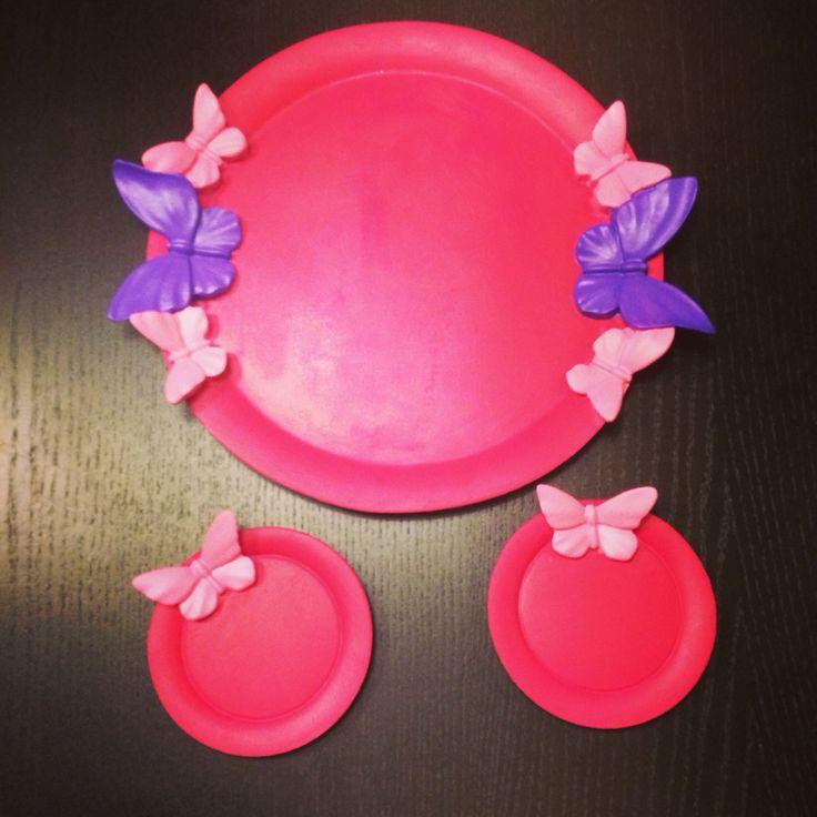 Polyester boyama,tepsi ve tabakları#hobi#dıy#