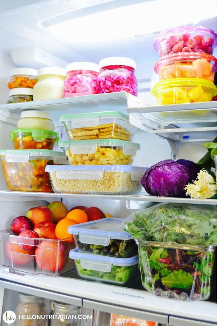 Organize your fridge for healthy-eating success!  This is by far the biggest lesson I've learned after being a nutritarian for over 4 years!  When you take the time to make sure you can see what you want to eat in your fridge, it starts to work for you instead of against you!  Guess what?  I'm the only nutritarian in my house!  Click through to see how I share my fridge with everyone else!