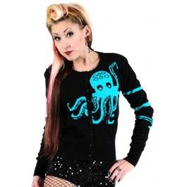 Knit In Cardigan - Octopus #cute #fashion #altfashion #alternative #seacreature #autumn #fall