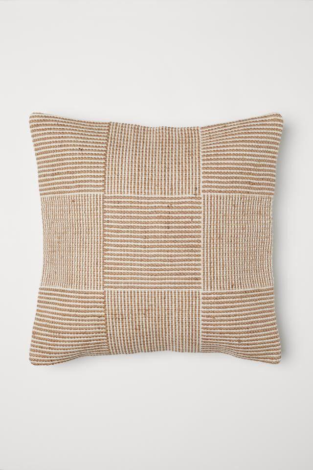 H M Home Jute Blend Cushion Cover 19 99 Usd Beige Cushions