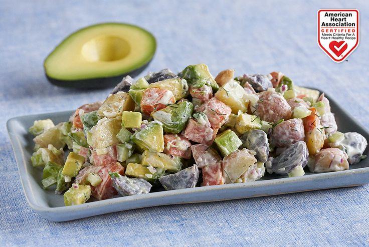 California Avocado Tri-Color Potato Salad