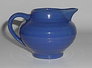 Bauer Pottery Ring Ware Cobalt Demitasse Creamer