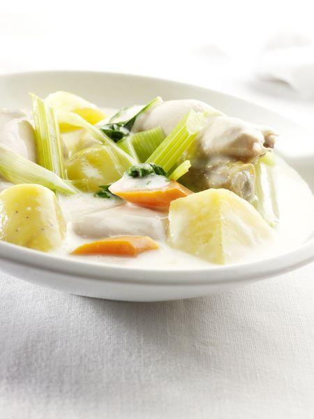 Recepten - Aardappelen in waterzooi van kip
