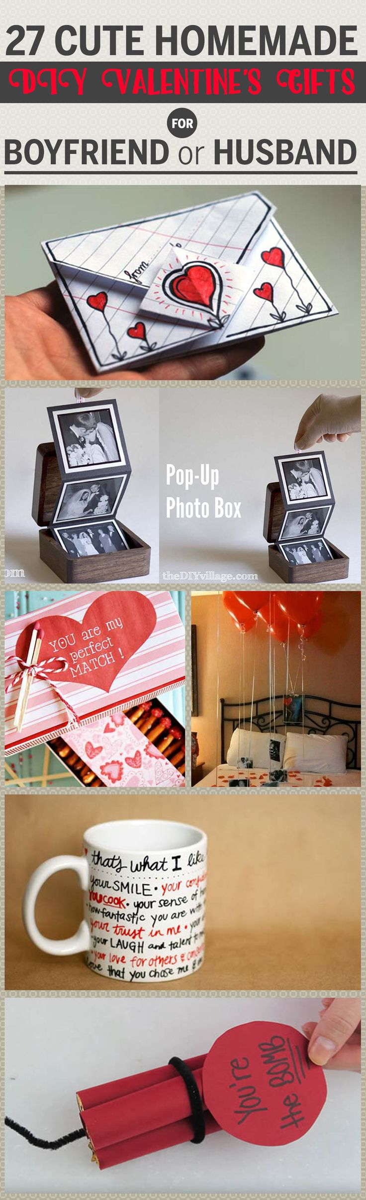 27 romantic DIY valentine's gifts for him to show how much you care