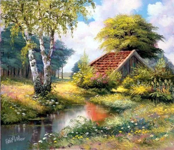 Countryside Paintings by Reint Withaar | Cuded