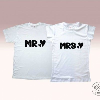 Koszulki dla pary.  Prezent na walentynki! Valentines gift for couple. Mr & Mrs DDshirt