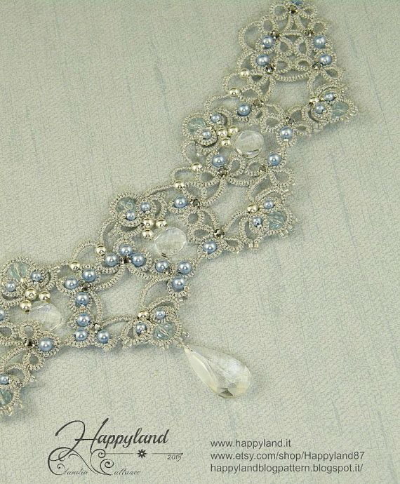 Frozen Realm tatted necklace pattern by Happyland87 on Etsy