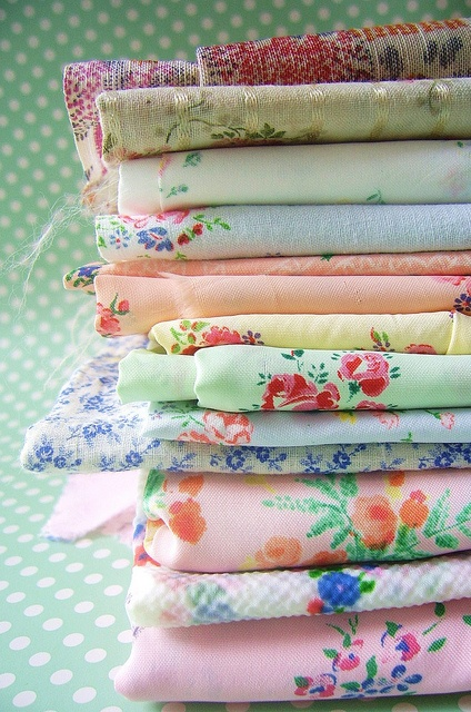 my love for vintage fabrics by silly old suitcase