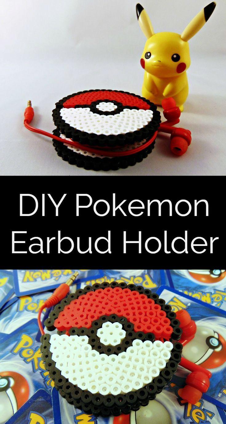 Easy to make Pokeball earbud holder