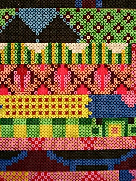 Détail d'une mosaïque colorée réalisée par Cilla Ramnek: Bead Patterns, Collection Patterns, Dune, Cilla Ramnek, Perler Beads, Colorée Réalisée, Beads Hama, Color 233 R 233 Alis 233, Hama Beads Patterns