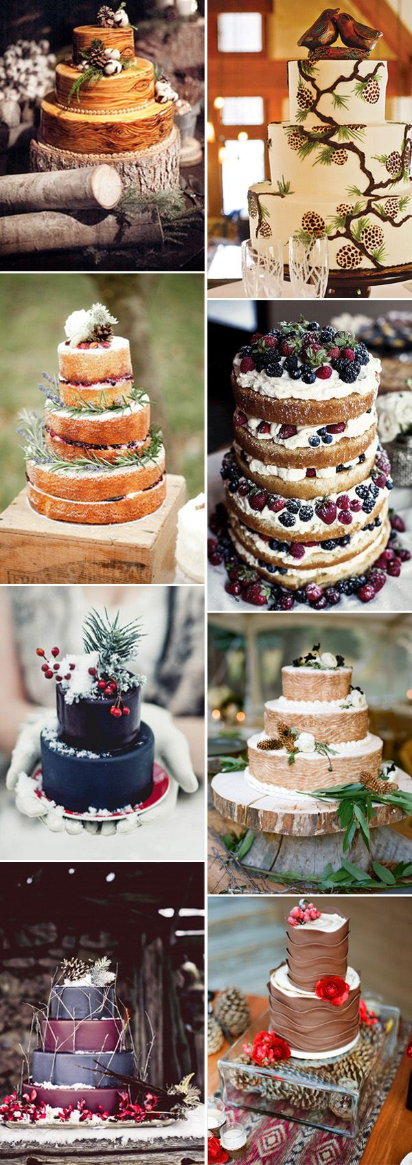 gorgeous colored winter wedding cake ideas