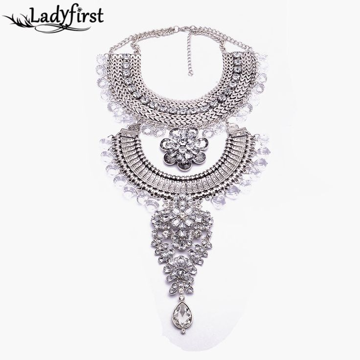 2015 New Arrival Fashion Luxury Maxi Statement Good Quality Necklace &pendants Gem Tassel Long Bib Beads Necklace B448