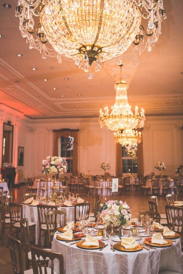 Gold And Blush Wedding At The Richard Nixon Library Decor Pinterest Dream Blog