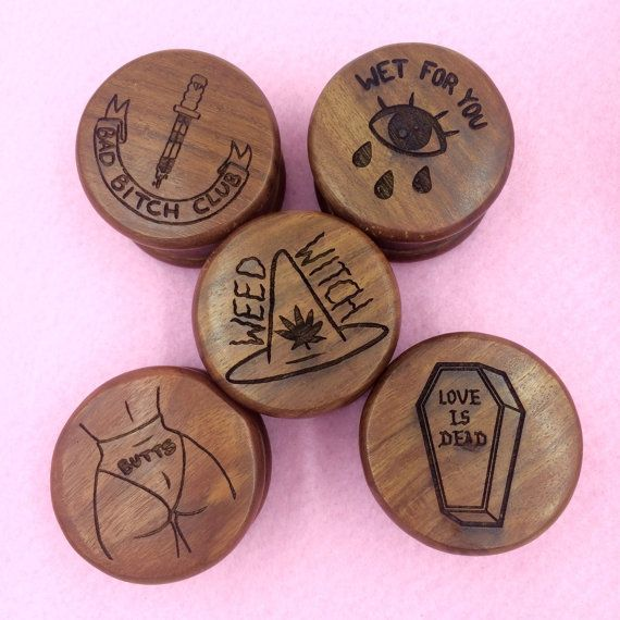 WEED WITCH Herb Grinder by PenelopeGazin on Etsy