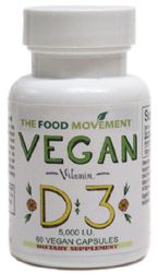 Vegan Vitamin D3 Capsules by The Food Movement – VeganEssentials Online Store