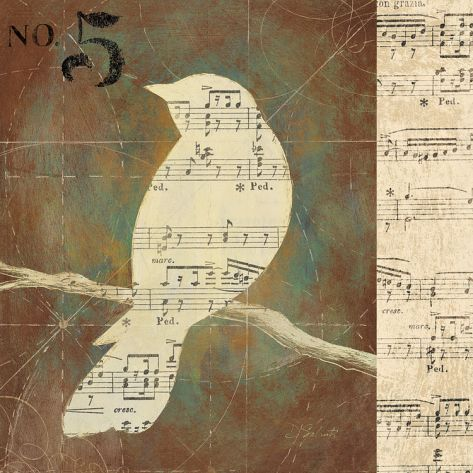 bird silhoutte printable | Bird Silhouettes II Print by D. Salusti at Art.com