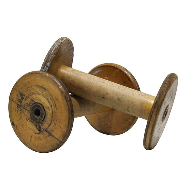 Wood Spool || Large Wooden Spools. Dimensions: 4 1/2 x 4 1/2 x 7.