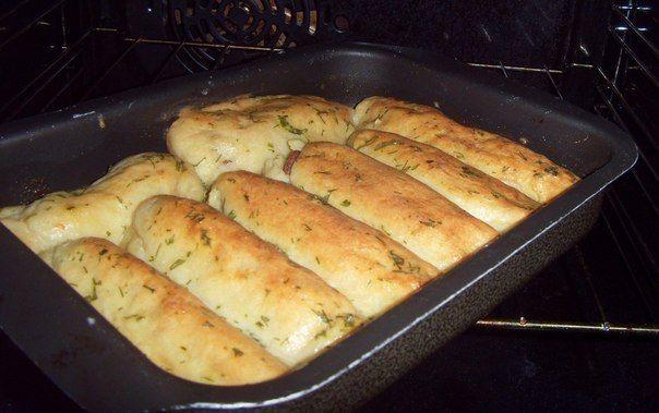 Вкусные Сосиски в картофеле