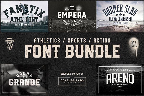 Sports Font Bundle Btl 1 Sports Fonts Sports Font Font Bundles