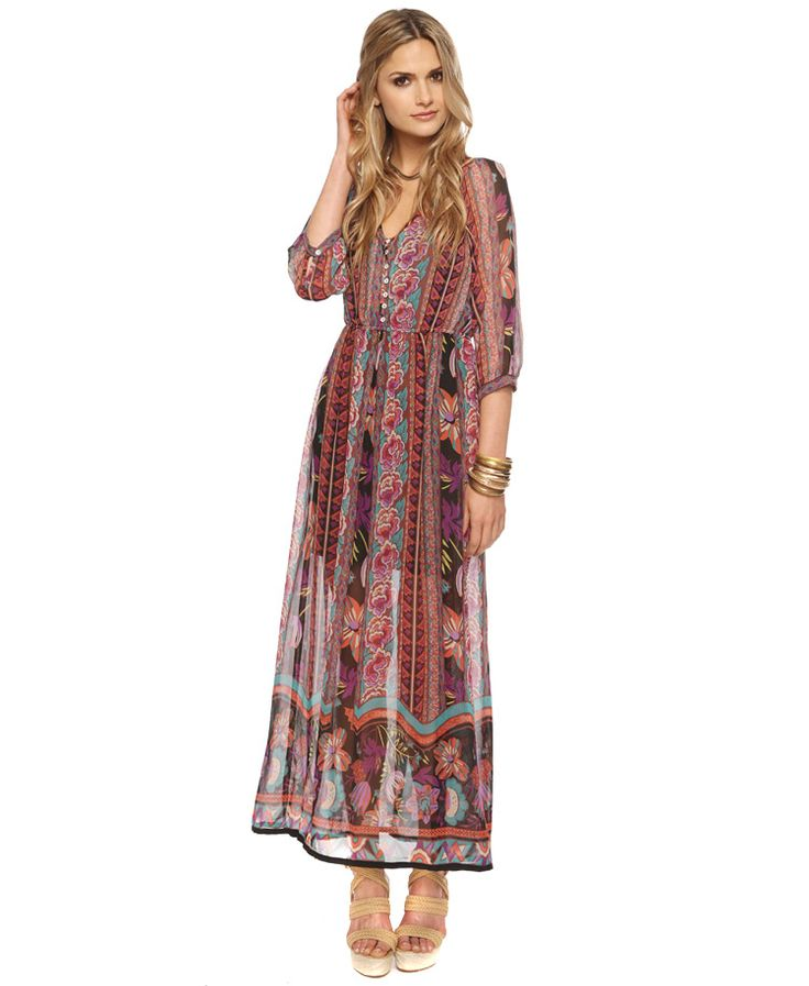 Robe Coupe Droite en Jean | Forever21, Maxi dresses and Boho