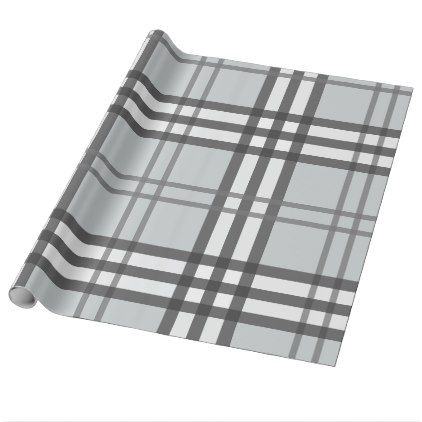 Grayscale Tartan Pattern Wrapping Paper - craft supplies diy custom design supply special